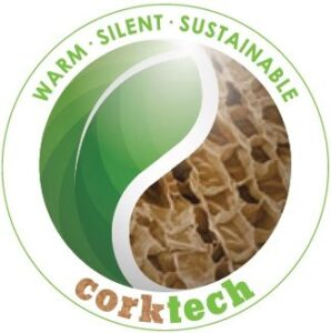 Logo corktech, warm - silent - sustainable